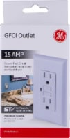 GE 15 AMP GFCI Outlet - White