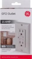 GE 15 AMP GFCI Outlet - Light Almond