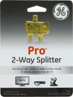 GE Pro Digital 2-Way Coax Splitter - Gold