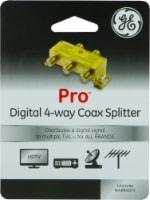 GE Pro Digital 4-Way Coax Splitter - Gold