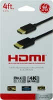 GE HDMI High Speed Ethernet Cable - Black