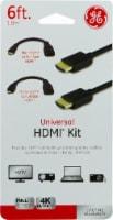 GE Universal HDMI Cable Kit - Black