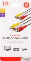 GE Component Audio and Video Cable - Black