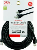 GE Streaming Internet Cat 5e Networking Cable - Black