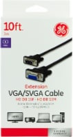 GE VGA and SVGA Extension Cable - Black
