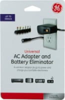 GE Universal AC Adapter and Battery Eliminator - Black - 8 pc