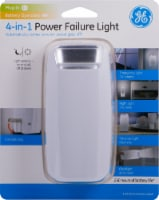 GE Power Failure LED Night Light with Batteries - White