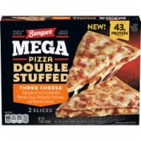 Banquet Mega Pizza Double Stuffed Three Cheese Frozen Pizza Slices - 2 ct / 13 oz