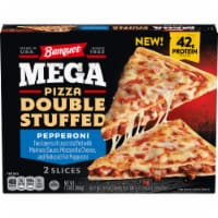 Banquet Mega Pizza Double Stuffed Pepperoni Frozen Pizza Slices - 2 ct / 13 oz