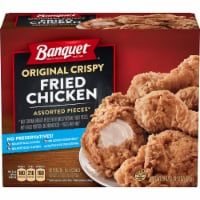 Banquet Original Crispy Fried Chicken Assorted Pieces Frozen Family Meal - 29 oz