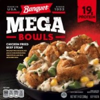Banquet Mega Bowls Chicken Fried Beef Steak Frozen Dinner