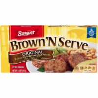 Banquet Brown 'N Serve Original Sausage Patties 8 Count