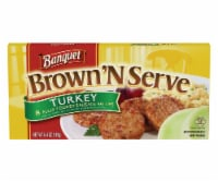 Banquet Brown 'N Serve Turkey Sausage Patties 8 Count