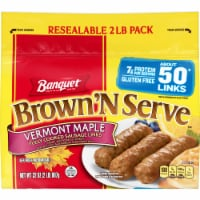 Banquet Brown 'N Serve Vermont Maple Fully Cooked Sausage Links