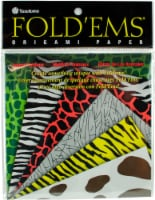 Yasutomo Animal Print Pattern Origami Paper  5 x 5 Inch  24 Sheets