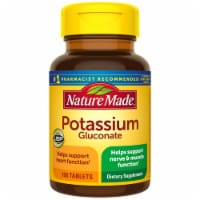 Nature Made Potassium Gluconate Dietary Supplement Tablets 550mg 100 Count