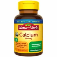 Nature Made Calcium Tablets 600mg 60 Count