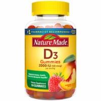 Nature Made Vitamin D3 Strawberry Peach & Mango Flavored Gummies 50mcg