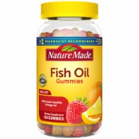Nature Made Orange Lemon and Strawberry Adult Fish Oil Gummies