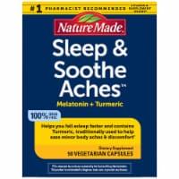 Nature Made® Sleep & Soothe Aches™ Melatonin + Tumeric Vegetarian Capsules - 50 ct