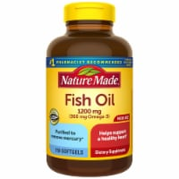 Nature Made Fish Oil Omega-3 Softgels 1200mg