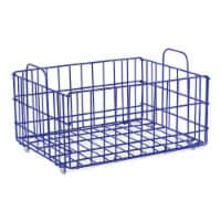 Atlantic 23308043 Cart System Wire Basket, Blue
