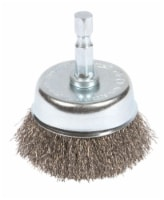 Forney 3 In. 1/4 In. Hex Fine Drill-Mounted Wire Brush 72732