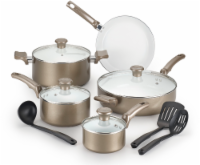 T-fal Ceramic Chef Cookware Set - Bronze/White