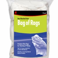Buffalo™ Bag of Rags Bleached Knit Rags - White - 1 lb