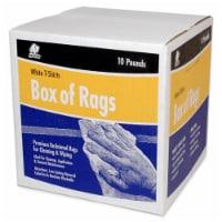 Buffalo™ Box of Rags - White - 10 lb