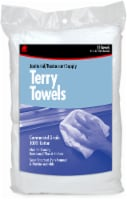 Buffalo™ Janitorial/Restaurant Supply Terry Towels - 12 Pack - White