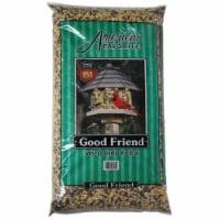 Americas Favorite 280080 10 lbs Good Friend Wild Bird Feed Dark Green Stripe Bag, Dark Green