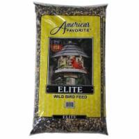 Americas Favorite 2800210 20 lbs Elite Wild Bird Feed Yellow Stripe Bag