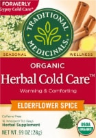 Traditional Medicinals Gypsy Cold Care Elderflower Spice Tea Bags 16 Count