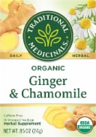 Traditional Medicinal Organic Ginger with Chamomile Tea Bags