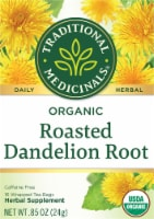 Traditional Medicinals Organic Roasted Dandelion Root Tea Bags 16 Count