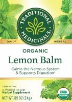 Traditional Medicinals Organic Lemon Balm Herbal Tea Bags 16 Count