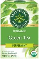 Traditional Medicinals Organic Peppermint Green Tea Bags 16 Count