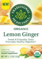 Traditional Medicinals Organic Lemon Ginger Tea Bags