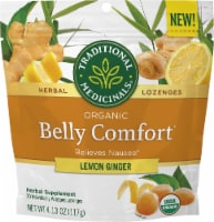 Traditional Medicinals Organic Lemon Ginger Belly Comfort Herbal Lozenges - 30 ct