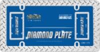 Cruiser® Accessories Diamond Plate License Plate Frame - Silver