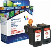 Dataproducts Remanufactured Ink Cartridges for Canon PG-210/CL-211 - 2 Piece - Black/Tri-Color