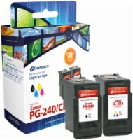 Dataproducts Remanufactured Ink Cartridge for Canon PG-240/CL-241 - Black/Tri-Color