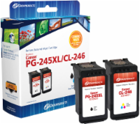 Dataproducts Remanufactured Ink Cartridge for Canon PG-245XL/CL-246 Combo Pack