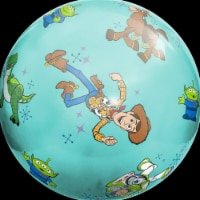 Hedstrom 54-0703BX-1P 20 in. Toy Story 4 Super Bouncin Ball with Pump, Multi Color