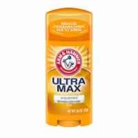 Arm & Hammer Ultra Max Invisible Solid Unscented Deodorant - 2.6 oz