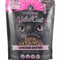 Vital Essentials 93200920 12 oz Freeze-Dried Chicken Mini Nibs Entree Cat Food - 1