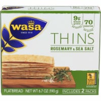 Wasa Thins Rosemary & Sea Salt Flatbread - 6.7 oz
