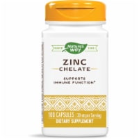 Nature's Way Zinc Chelate Dietary Supplement Capsules 30mg 100 Count