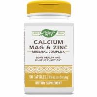Nature's Way Calcium Mag & Zinc Mineral Complex Bones & Muscles Capsules - 100 ct